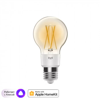 Лампочка Xiaomi Yeelight LED Filament Light (YLDP12YL), E27, 6Вт