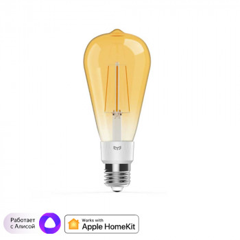 Лампочка Xiaomi Yeelight Smart LED Filament Bulb (YLDP23YL), E27, 6Вт